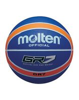 Molten BGR Series Coloured Indoor/Outdoor Blue/Orange 12 Panel Nylon Basketball