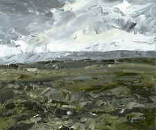 North Yorkshire Moors ORIGINAL LANDSCAPE PAINTING Dramatic Sky Steve Greaves