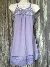 Lili Rose Womens Lavender Crochet Top Spaghetti Strap Tank Size L NEW With Tag