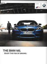 BMW M5 SALOON CAR  SALES BROCHURE LATE 2012  FOR 2013 MODEL YEAR