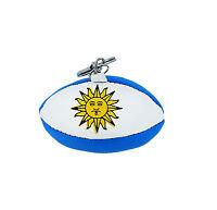 PORTACHIAVI pelle porta chiavi auto keychain pallone rugby bandiera ARGENTINA