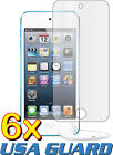 6x Apple iPod Touch 5 5th Gen Clear LCD Screen Protector Guard Shield Cover Film