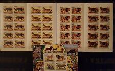 390 Briefmarken IMPF! Burundi Katzen Raubkatzen KB.+10-er Bogen ,postfrisch