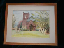 Original Vintage Victorian? Edwardian? painting St Michael's church signed 6