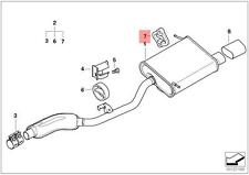 Genuine BMW E36 Z3 Compact Roadster Exhaust Hanger OEM 18211247422