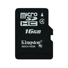 Tarjeta de memoria micro SD 16GB Clase4 Kingston para camaras tablets y moviles