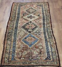 OLD WOOL HAND MADE ORIENTAL FLORAL RUNNER AREA RUG CARPET 233x96CM