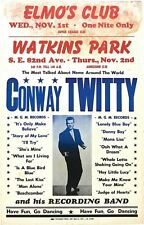 Conway Twitty Poster Iron On Transfer For T-Shirt & Other Light Color Fabric #2