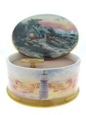 "Thomas Kinkade ""Cottage By The Sea"" Porcelain Music Box 1999 Retired"