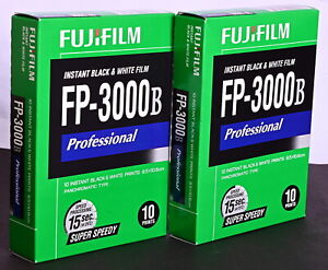 Fujiflm FP-3000B Instant B&W Film for use with Polaroid Backs - New Old Stock!