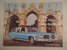 Vtg RARE 1971 Cotner-Bevington Hurst Limousine Ambulance Landau Brochure Trifold