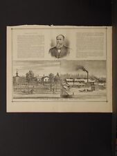 New York, Chautauqua County Engraving, 1881 Jamestown, Clymer N6#59