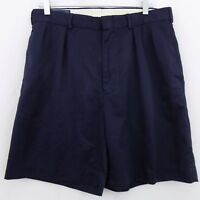 Polo Ralph Lauren Navy Blue Men's Size 34 Pleated Front Polyester Dress Shorts