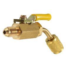R410a R134a Brass Shut Valve For A/C Charging Hoses HVAC 1/4inch AC Refrige J8D1