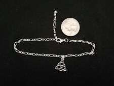 Silver Tone Celtic Triquetra 16 inch snake chain, earrings and anklet