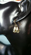 ❤ JAYNES GEMS.  5CT BRIOLETTE CUT CITRINE  DROP EARRING  SET IN 9K SOLID GOLD