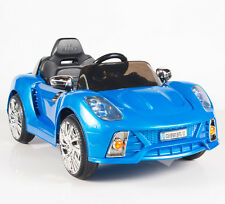 12V Ride On Car Kids W/ Mp3 Electric Battery Power Remote Control Rc Blue