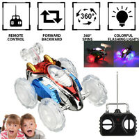 Remote Control Acrobatic Stunt RC Car Vehicle LED Flashing Light Music Kids Toy