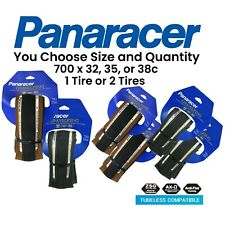 Panaracer Gravel King SLICK TLC 700x 32 35 38 Black or Brown Tubeless Ready Tire