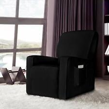 Enova Home Black Stretch Spandex Jacquard Recliner Chair Slipcovers with Pocket