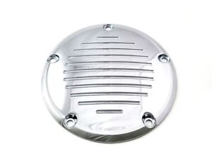 Chrome Grooved Derby Cover Harley Twin Cam Softail Dyna Road King Electra