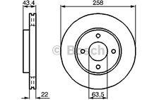 BOSCH Juego de 2 discos freno Antes 258mm ventilado FORD FOCUS 0 986 478 892