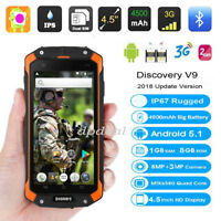 """3G Rugged Android 4.5"""" Smartphone Quad-Core Unlocked 4000mAh Battery Cell Phone"""