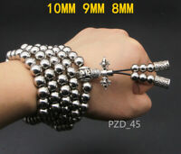 Details about  /2021 Martial Arts Titanium Steel and Flat Bead Necklace Kung Fu Whip Bracelet