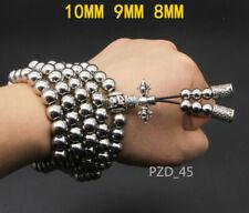 EDC Martial Arts Titanium Steel Peace Bead Necklace Kung Fu Whip Bracelet