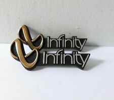 """2 INFINITY SPEAKERS EMBLEMS PAIR GOLD & SILVER 3"""" SM"""