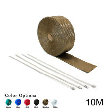 "2"" 33Ft Roll Titanium Fiberglass Exhaust Header Pipe Heat Wrap Tape + 4 Ties Kit"