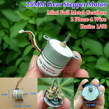 DC 12V 2 Phase 4 Wire Gear Stepper Motor Mini Full Metal Gearbox Stepping Motor