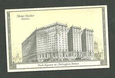 Pre 1920 Unused Postcard Hotel Statler Boston Mass. Park Square at Arlington St.