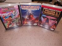 WIZARDS WARRIORS & IronSword & 3 III Game Nintendo Entertainment System NES