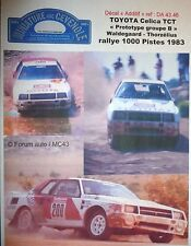 MC43 DECAL  ADD 1:18 - TOYOTA CELICA PROTO - WALDEGARD RALLYE 1000 PISTES 1983