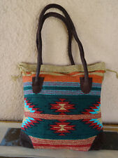 Monterey Tote Bag OPMONT-I Handwoven Southwestern Southwest  Bag with closure