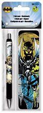 BATMAN - GEL PEN & BOOKMARK BRAND NEW - DC COMICS 3560