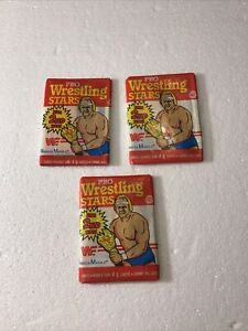 1986 O-Pee-Chee WWF Pro Wrestling Stars Unopened Wax Pack Lot Of 3