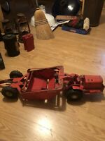 Red Doepke Earth Mover In Good Condition Missing Exhaust On Top.