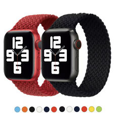 Braided Solo Loop Strap Compatible with Apple Watch 6 SE 5 4 44mm 42mm