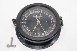 Chelsea Boston 24 hour Ships Clock 1940's Military Time Runs Needs Restoration