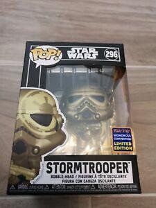 Funko Pop Star Wars Gold Stormtrooper Wondercon 2021 Golden New 296 In Hand