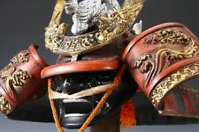 Japanese Samurai Kabuto Helmet -big dragon with a mask- Massive Red