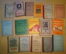 16 livres scolaires années 30 à 70
