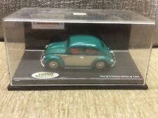 VW BEETLE OVAL SCREEN GREEN / CREAM TWO TONE & RED INTERIOR 1:43 VITESSE *BOXED*