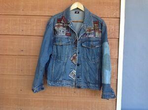 JAG Mens Denim jacket - small men's retro jacket. Patches.