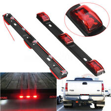 "14"" Red 3-LED Truck/Trailer ID Light Bar For Pickup Ford F150 F250 Dodge RAM"