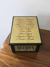 Large Recipe Box In Other Collectible Kitchen Boxes Ebay