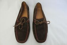 Tods Ferrari Mens Suede Loafers Driving Moccasin Brown Size UK 9 US 10
