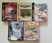 5 LOT Nintendo Gameboy Games boxed Sakura Wars Dragon Quest X-men Bomber Man CIB